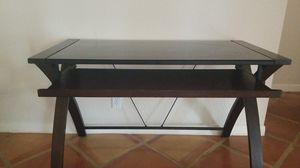 Computer Desk w/ glass top for Sale in Weston, FL