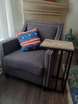 Excellent condition AFW accent chair, and C table for Sale in Denver, CO