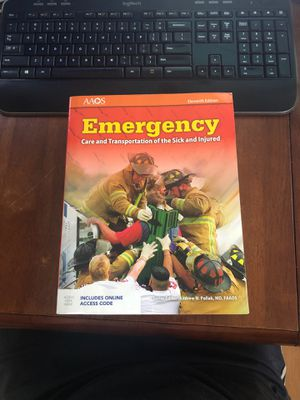 Emergency 11th edition. Care and transportation of the sick and injured for Sale in IL, US