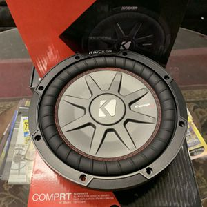 Kicker Car Audio 10 Inch Car Stereo Subwoofer . Thin Mount Comp R . Holiday Super Sale . $129 While They Last . New for Sale in Mesa, AZ