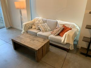 White/light-grey Article sofa for Sale in Seattle, WA