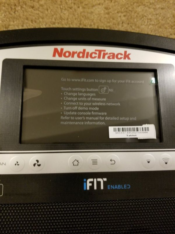 BRAND NEW - NordicTrack Elliptical Android Center Console - iFit Compatible