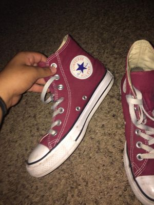 maroon high top converse for Sale in West Valley City, UT
