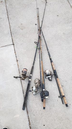 Miscellaneous fishing poles for Sale in Fontana, CA