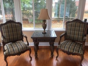 Antique set of chairs and coffee table for Sale in Columbia, MD
