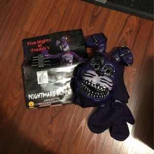 Five Nights At Freddy's Halloween Costume ,M (8-10) for Sale in Burbank, CA