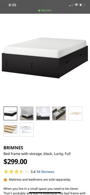 Brimnes Ikea bed frame for Sale in Kent, WA