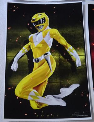 POWER RANGERS FIGURE Signed Art Print Poster •• See Pictures for details 🔵 TONS of HOT TOYS here ... for Sale in Las Vegas, NV