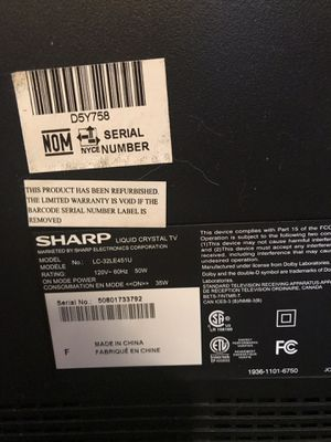 Sharp 32 inch tv for Sale in Pomona, CA