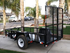 5 x10 utility trailer. (with 5.2 K drop axle) for Sale in Fresno, CA
