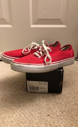Vans ERA Men's Size 9.5 red used for Sale in Fairfax, VA