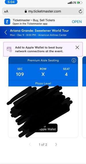 Ariana grande tickets for Sale in Dallas, TX
