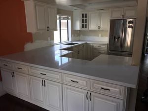 Kitchen Solid Wood Cabinet Quartz Counter tops Warehouse Open2 Public for Sale in Temple City, CA