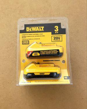 New (2) Batteries Dewalt 3.0AH FIRM PRICE for Sale in Woodbridge, VA