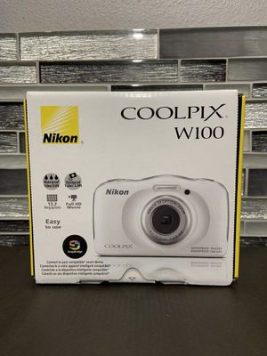 New Nikon COOLPIX W100 13.2 MP Digital Camera - White for Sale in McAllen, TX