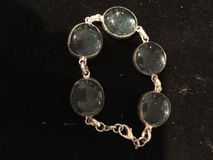 Silver bracelet with light blue stones for Sale in Los Angeles, CA