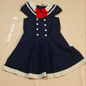 Girls size 8 sailor costume dress for Sale in Tampa, FL