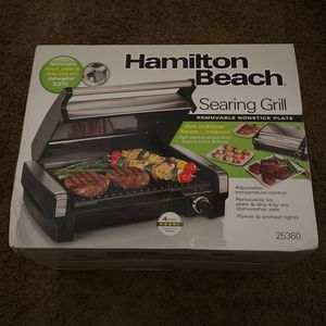 Hamilton Beach Searing Grill w/ Removable Nonstick Platei for Sale in Tolleson, AZ