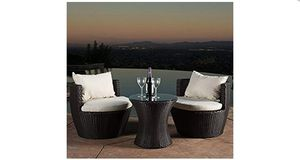 Best Selling Home Decor Furniture Angelina Wicker 3 Piece Patio Conversation for Sale in Mentor, OH