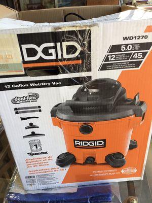 Ridged 12 Gallon Wet/Dry Vac for Sale in Acampo, CA