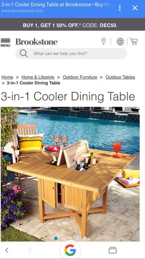 3-in-1 cooler outdoors dinner table for Sale in Everett, MA