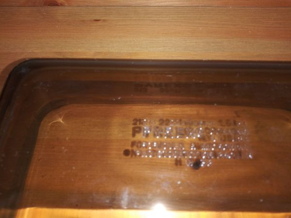 Vintage Amber Brown Pyrex Glass Loaf Pan