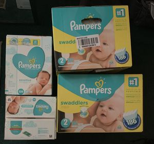 Pampers size 2 and wipes for Sale in West Newton, PA