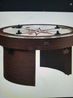 American Heritage Billiards Orbit Eliminator 4 Player Air Hockey Game - Brown Best air hockey table brand new still in the Box for Sale in Chula Vista, CA