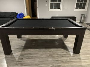 Pool table/Ping Pong Table/Regular table, comes with ping pong paddles, pool cues and balls & 2 benches for Sale in Atlanta, GA