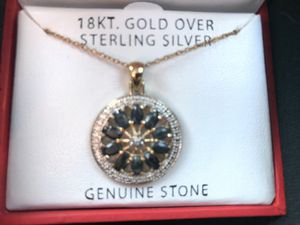 18KT Gold over Sterling Silver Pendant with chain for Sale in Atlanta, GA