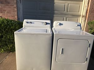KENMORE WASHER AND DRYER ELECTRIC ADMIRAL ELECTRIC BOTH WORKING GREAT NO ISSUES AT ALL 30 DAYS WARRANTY for Sale in Irving, TX