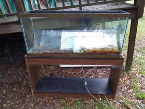 55 gallon fish tank +stand +extras for Sale in College Park, GA