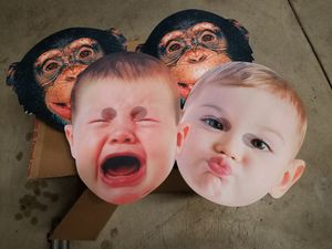 14x photo booth props monkey glasses baby crying crown fun for Sale in El Monte, CA