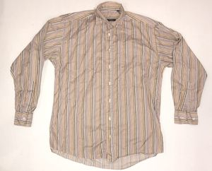 Burberry multiple color striped dress shirt men's size medium for Sale in Lodi, CA