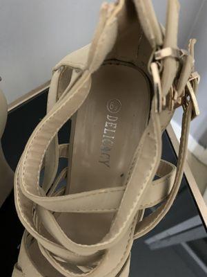 Strap beige platform heels for Sale in Lehigh Acres, FL