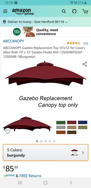 Gazebo replacement 12×12 for Sale in East Hartford, CT