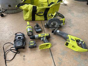 Ryobi power tool set for Sale in San Bernardino, CA