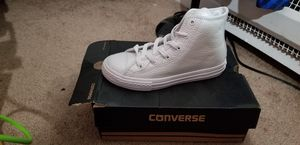 New white Converse sneakers size 1 for Sale in Boston, MA