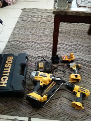 Dealt cordless drills and nail gun with mechanic tools for Sale in Denham Springs, LA