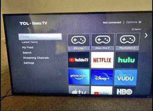 55 inch smart TV (shipping only due to Covid) for Sale in Henrico, VA