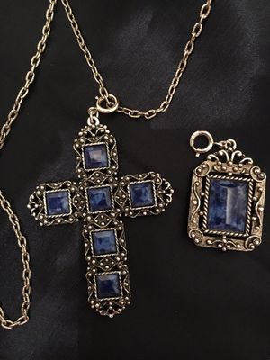 Cross pendant with silver tone chain for Sale in Adrian, WV