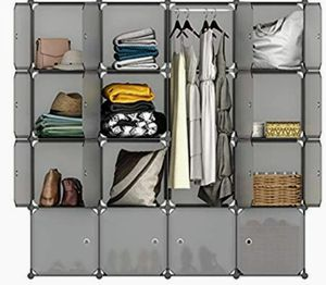 Cube Organize (16-doors)clothes hanging compartment for Sale in Ontario, CA