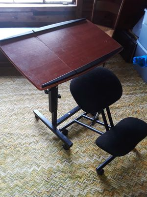 Desk and posture chair for Sale in Salisbury, NC