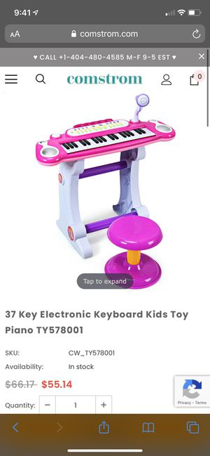 New ! Kids piano with microphone for Sale in Fontana, CA