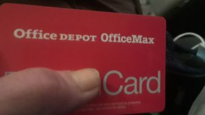 I've got an Office Depot card with$ 87.07 on it I will sell for 65 for Sale in Arlington, TX