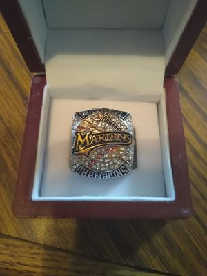 Florida Marlins Championship Ring with Display Case for Sale in BRECKNRDG HLS, MO