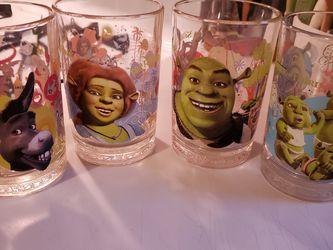 McDonald's Shrek Promo Glasses for Sale in Keysville,  VA