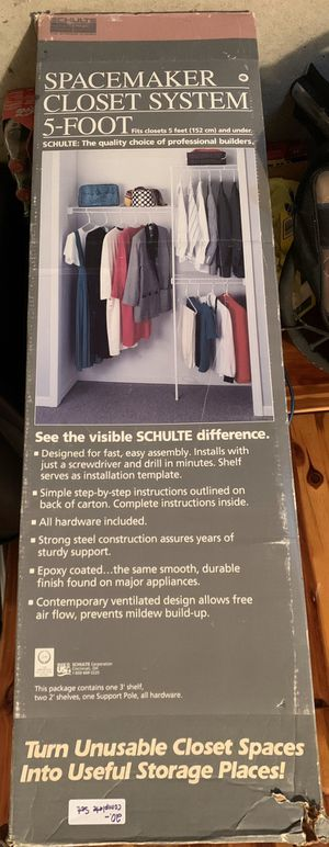 Spacemaker Closet System 5-Foot for Sale in Glassboro, NJ