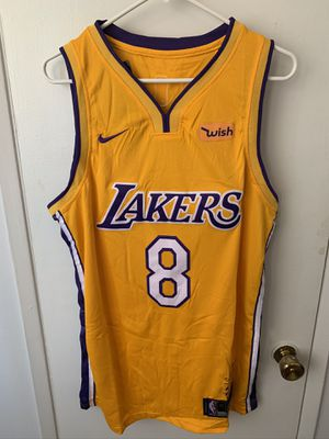 Kobe Bryant #8 yellow Los Angeles Lakers retirement jersey for Sale in Los Angeles, CA