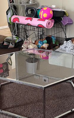 Silver Mirror And Glass Coffee Table for Sale in Hammond,  IN